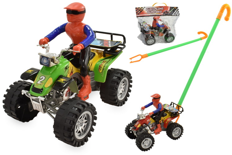 Push Along Quad Bike (3 Assorted Colours)