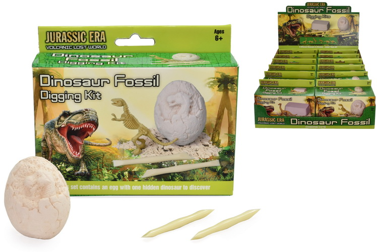 Dig Out Dinosaur Playsets 12 Assorted In Colour Box/Dbx