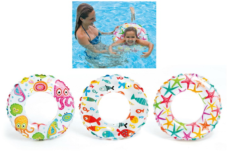"""20"""" Lively Print Swim Ring Ages 3-6yrs (3 Asst) Polybag"""