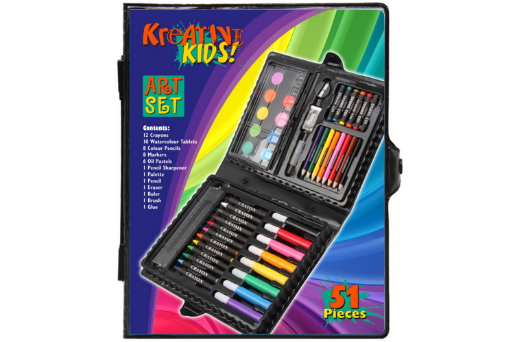 51pc Art Set In Colour Case
