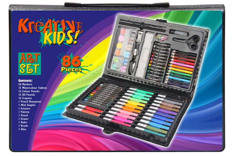 86pc Art Set In Colour Case