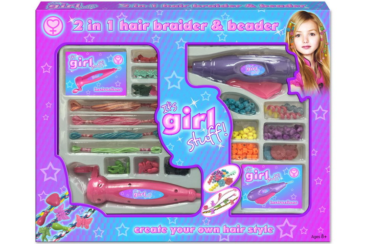 2-In-1 Magic Hair Beader Playset In Window Box