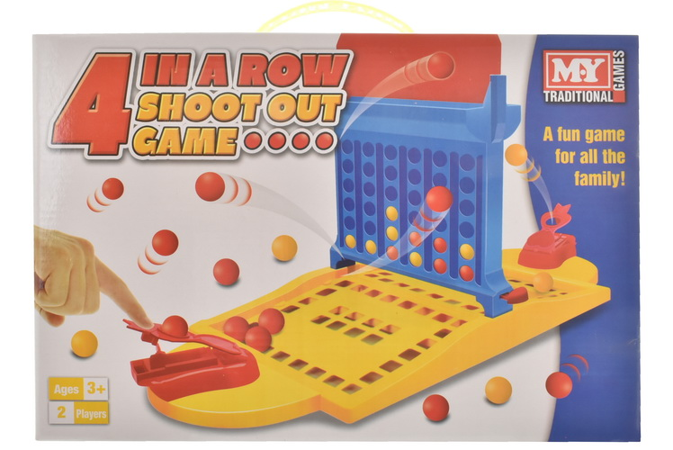 """4-In-A-Row Shoot Out Game In Colour Box """"M.Y"""""""