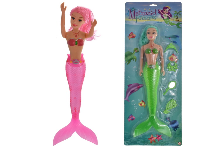Large Mermaid Doll 2 Assorted Colours On Blistercard