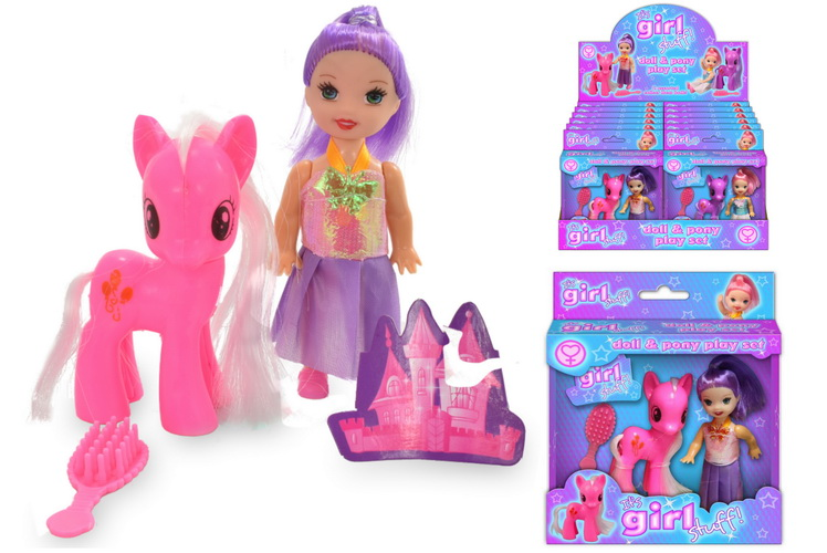 Pony And Doll Playset 2 Assorted In Wndow & Display Box