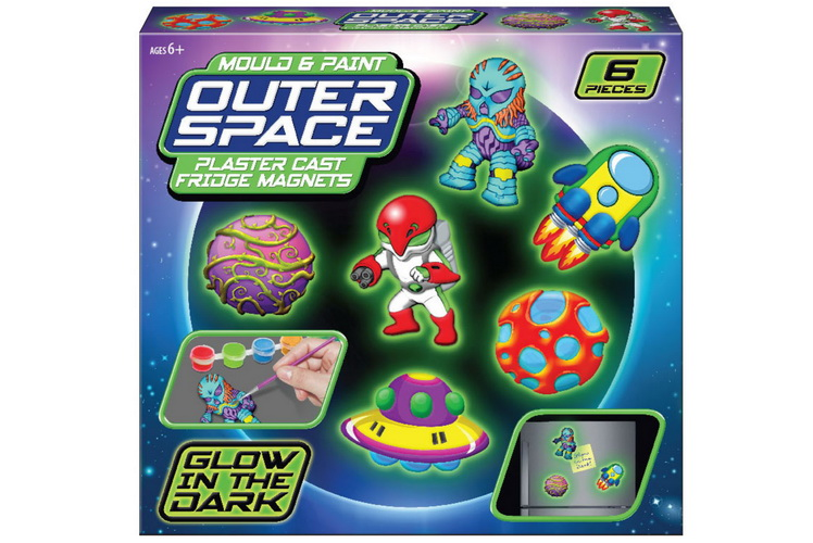 Glow In The Dark Mould & Paint Space Playset Colour Box