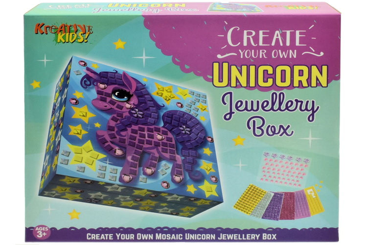 Create Your Own Unicorn Jewellery Box - Colour Box