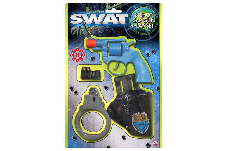 Swat 8 Shot Cap Gun Playset - Blistercard