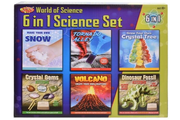 6 In 1 Science Playset In Colour Box