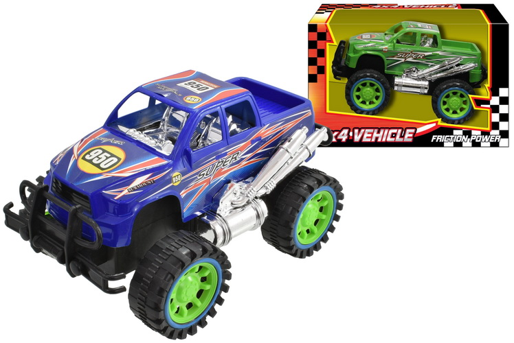 Plastic Friction 4x4 Vehicle 2 Assorted Colours In Wbx