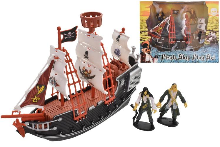Pirate Ship Playset In Window Box