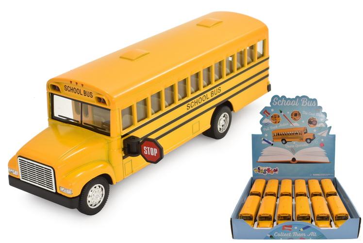 """6.5"""" Die Cast School Bus In Display Box"""