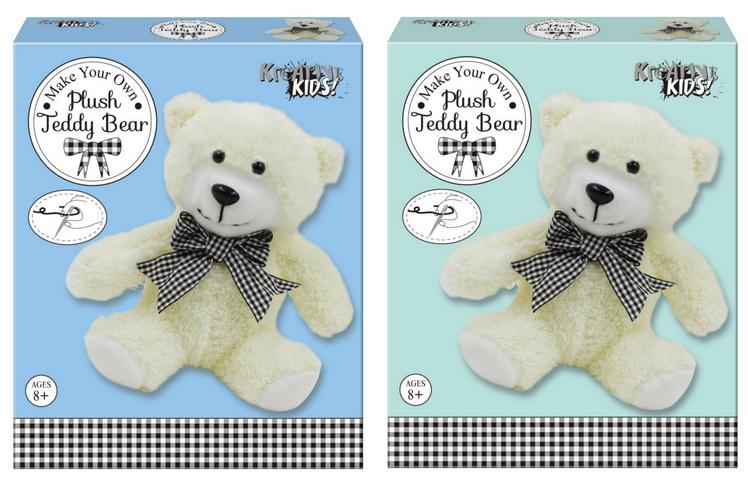 Make Your Own Plush Teddy Bear In Colour Box