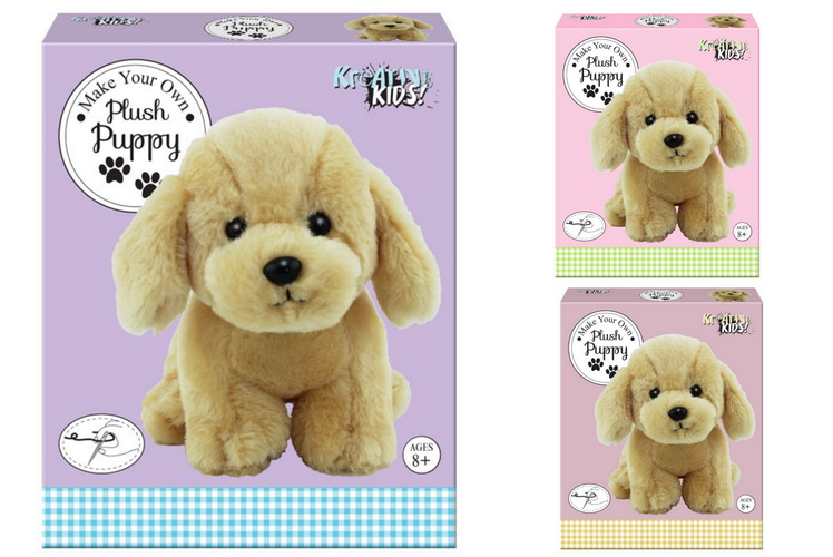 Make Your Own Plush Pug Puppy In Colour Box