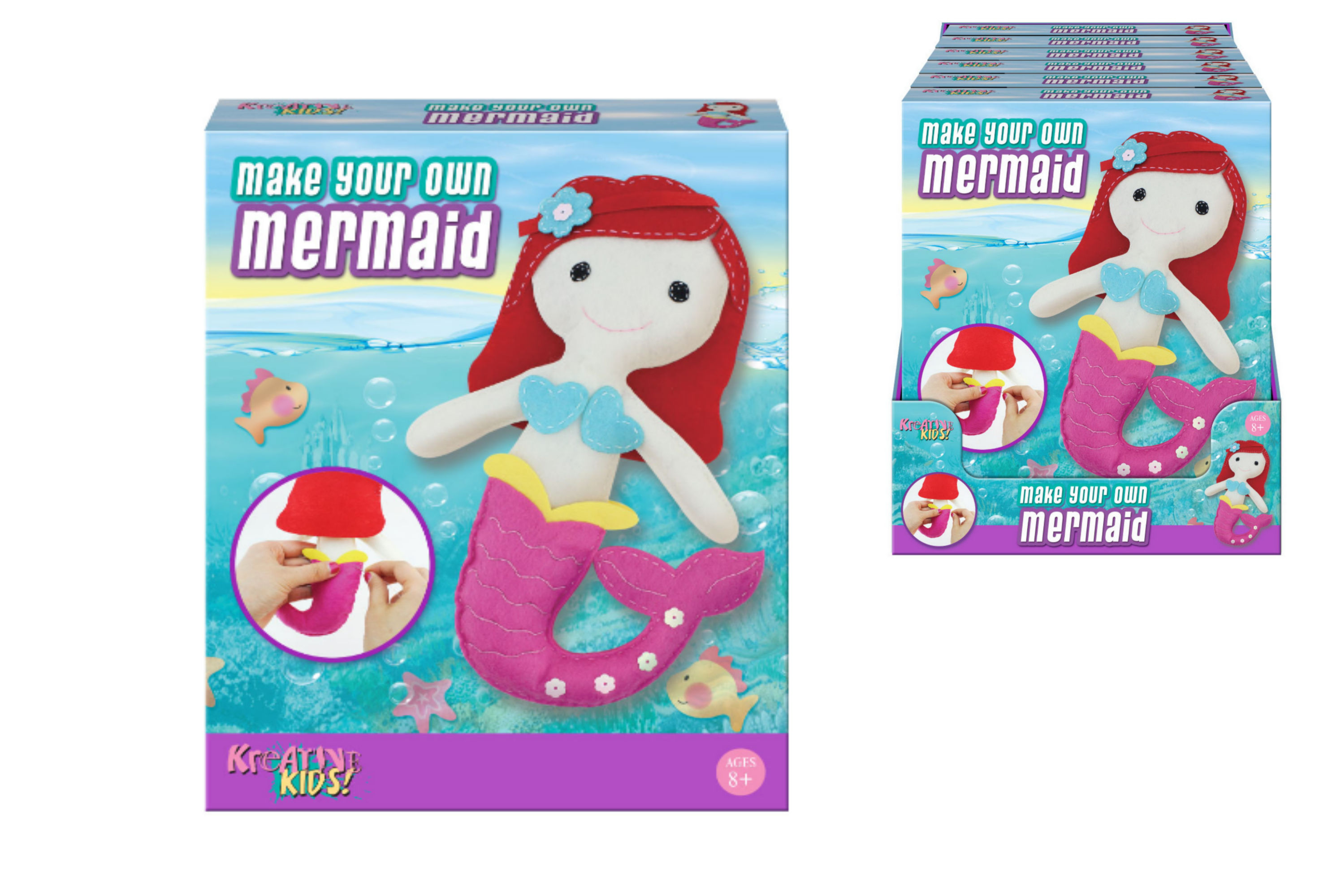Make Your Own Felt & Stuff Mermaid In Colour Box Pdq