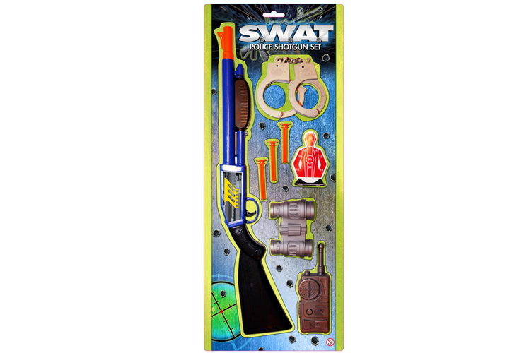 "Police Shotgun Set On Blistercard ""Swat"""