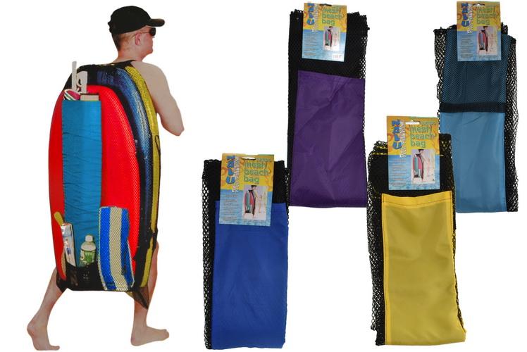 "24"" x 45"" Jumbo Mesh Bag B/Board & Gear - 4 Asst"