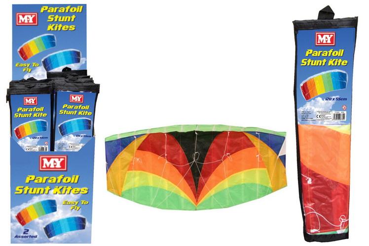120cm x 55cm Nylon Parafoil Stunt Kite In Display Box