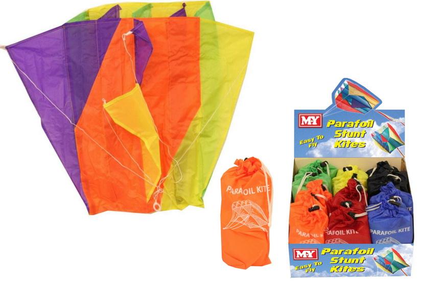 60cm x 51cm Nylon Parafoil Kite Bag In Display Box