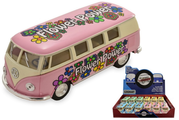 1:32 Scale Vw 1962 Classic Bus With Printing In D/Box
