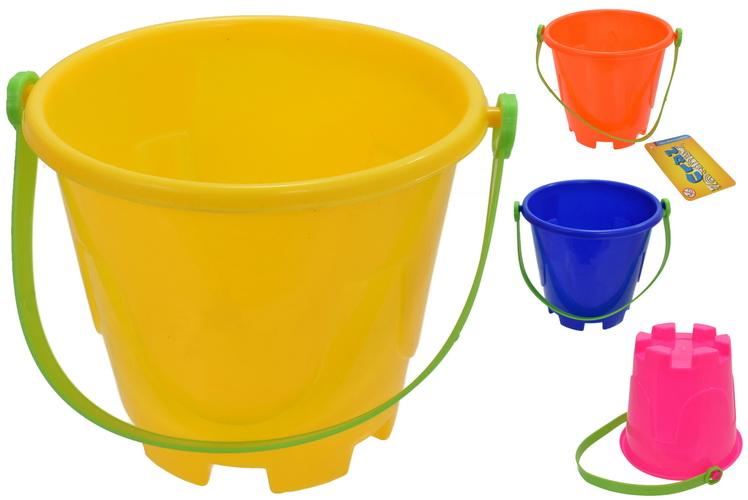 "Round Castle Bucket 5"" Dia 68g 4 Asst Colours ""Nalu"""
