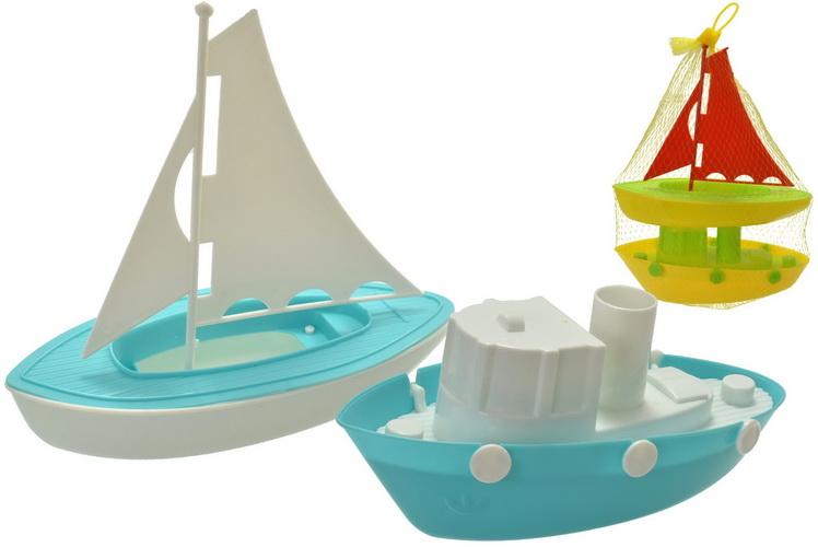 2 Pack Plastic Boats In Net Bag