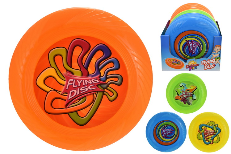 "10"" (75gm) Frisbee (4 Assorted Colours) In Display Box"