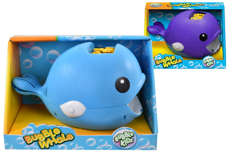 B/O Bubble Whale With Bubbles (2 Assorted Colours)