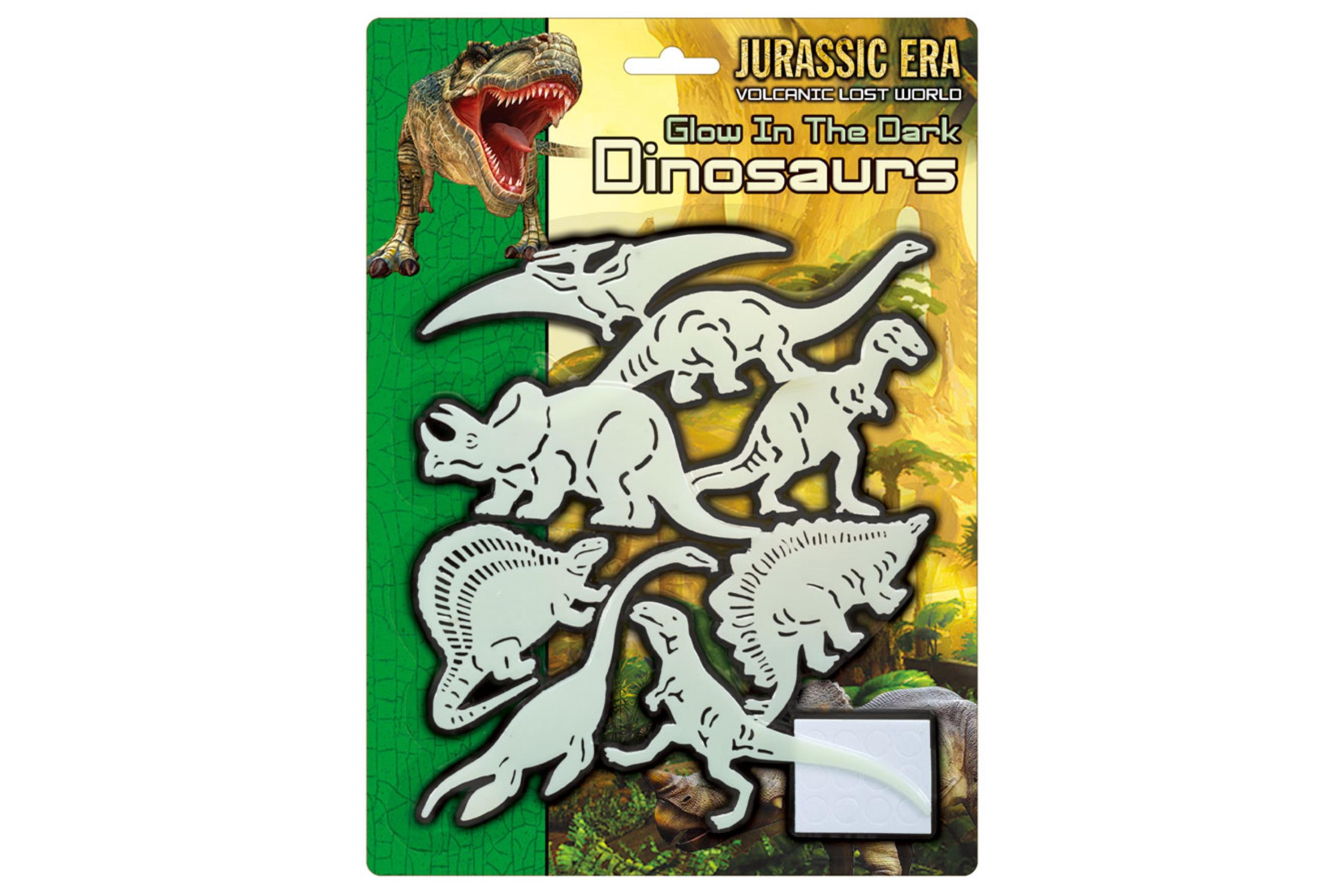 Glow In The Dark Dinosaur Set - Blistercard