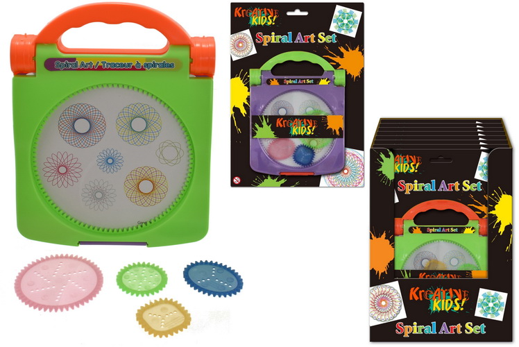 Spiral Art Set (3 Assorted Colours) On Blistercard