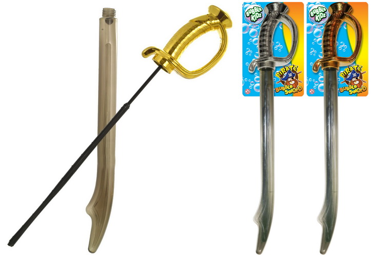 Bubble Sword With Chrome Handle (3 Assorted) - Tie Card