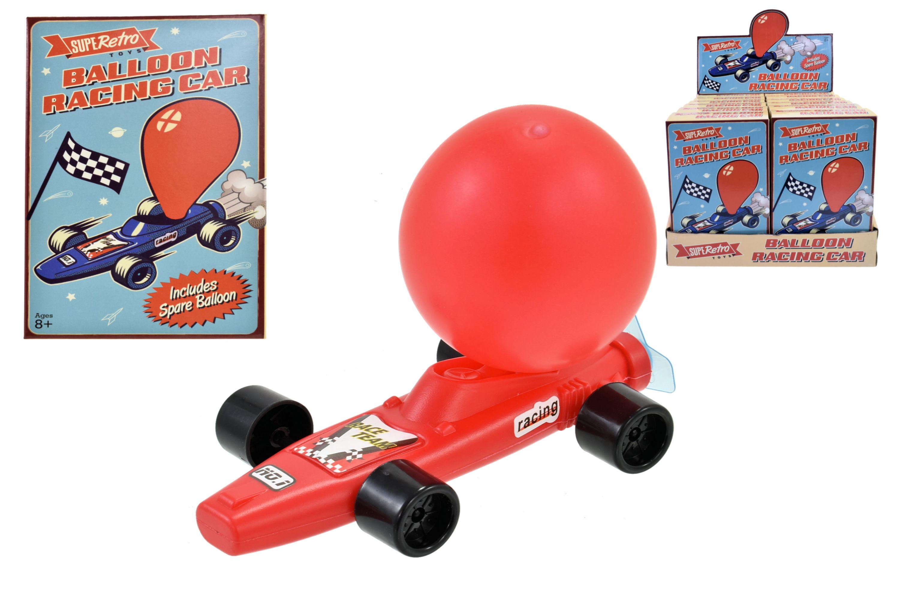 "Balloon Powered Racing Car - ""Retro"" Window Box"