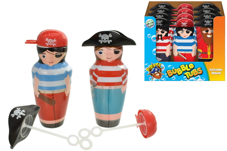 Pirate Captain & Mate Bubble Tubs In Display Box